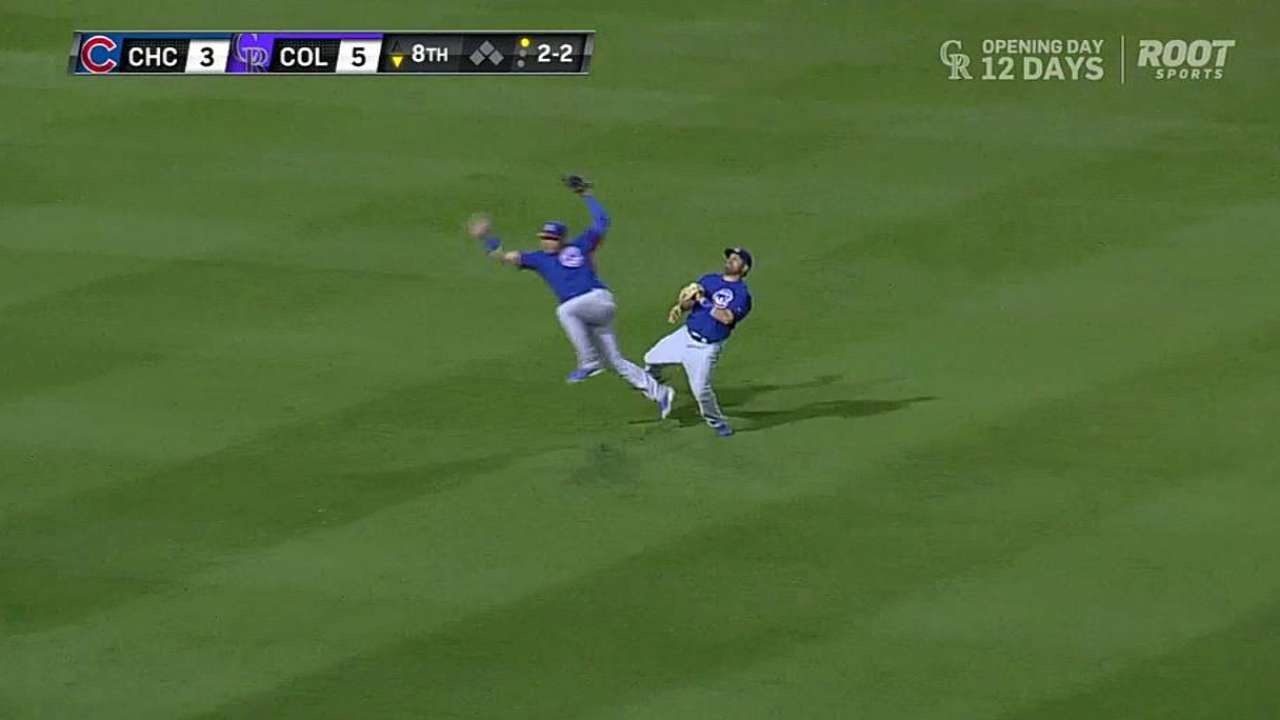 Baez bounces back quickly from collision
