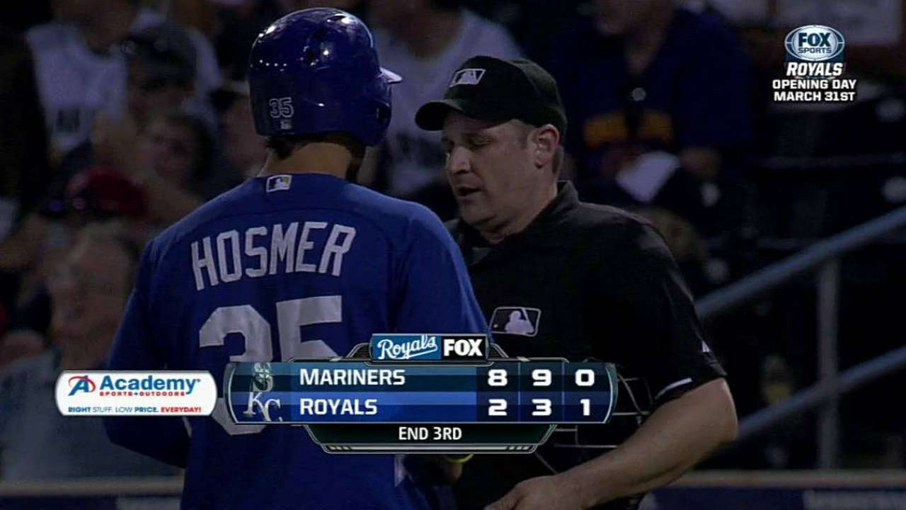 Hosmer earns a spring ejection