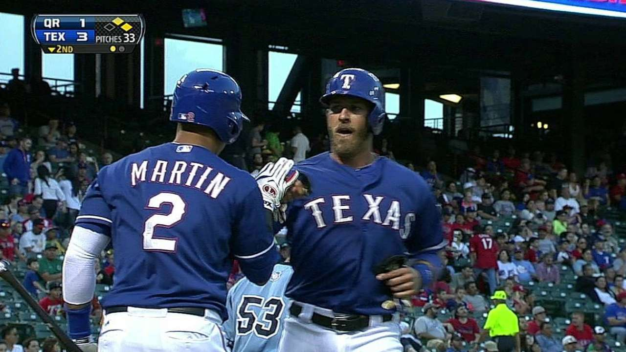 Wilson gets call at second for Rangers' opener