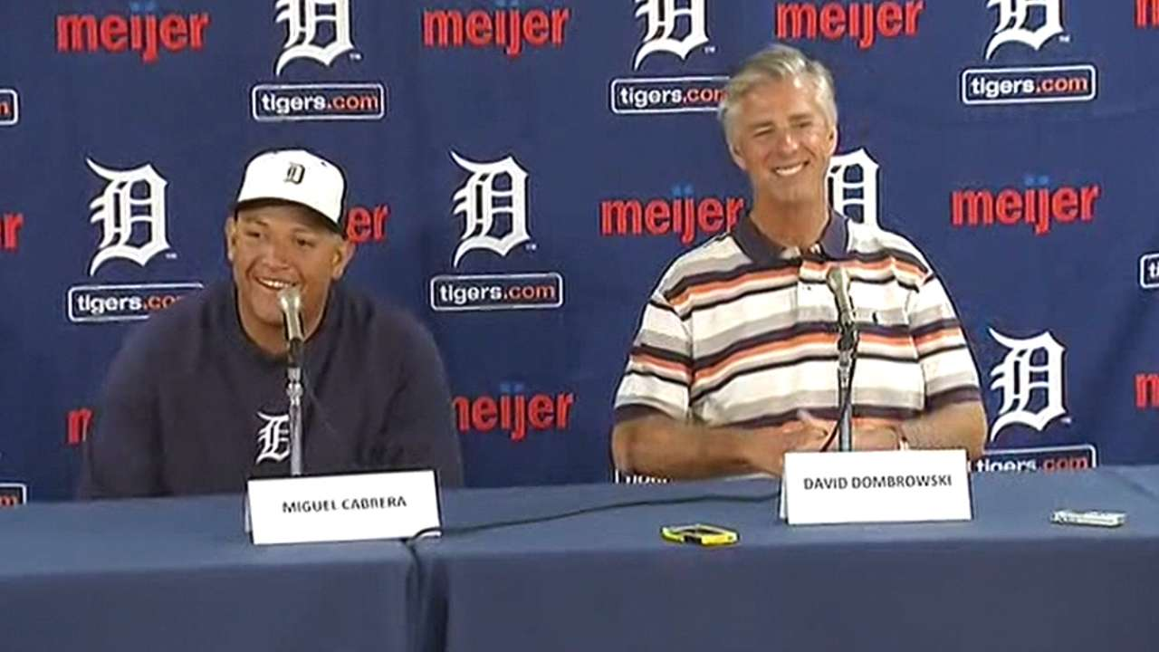 No doubt in Tigers' minds that Miggy is deserving