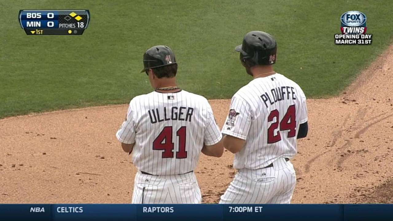 Plouffe notches two hits, but Twins fall to Red Sox
