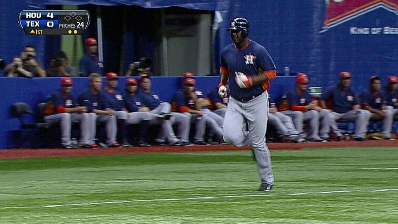 Carter's three-run homer lifts Astros over Rangers