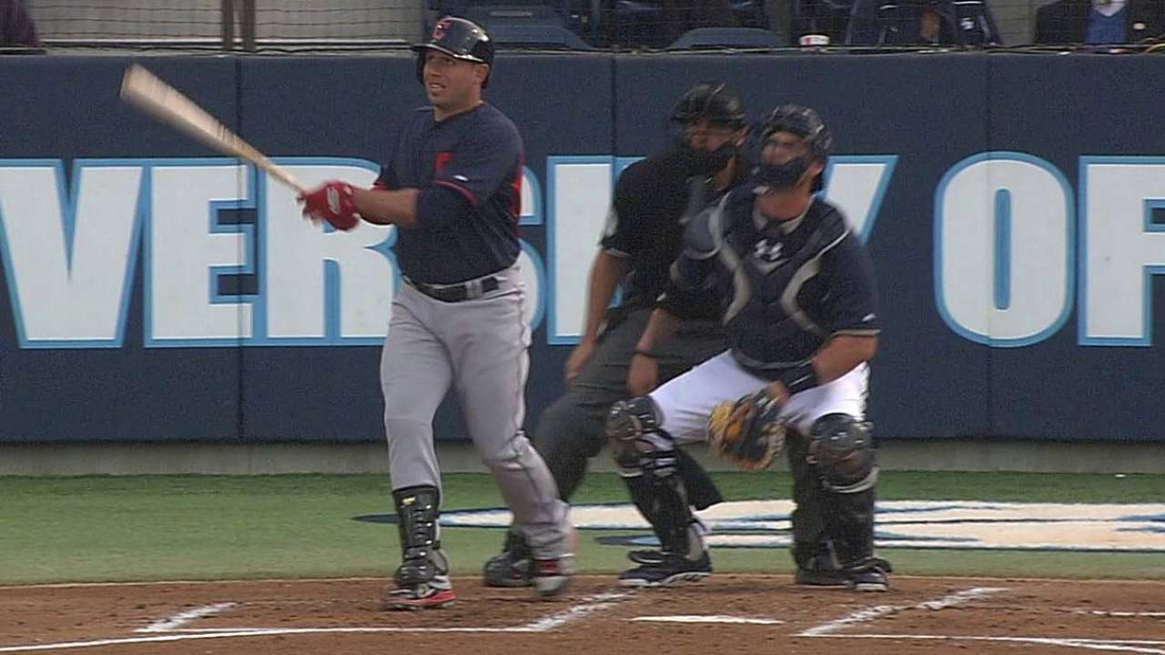 Indians ride early outburst to rout of Padres