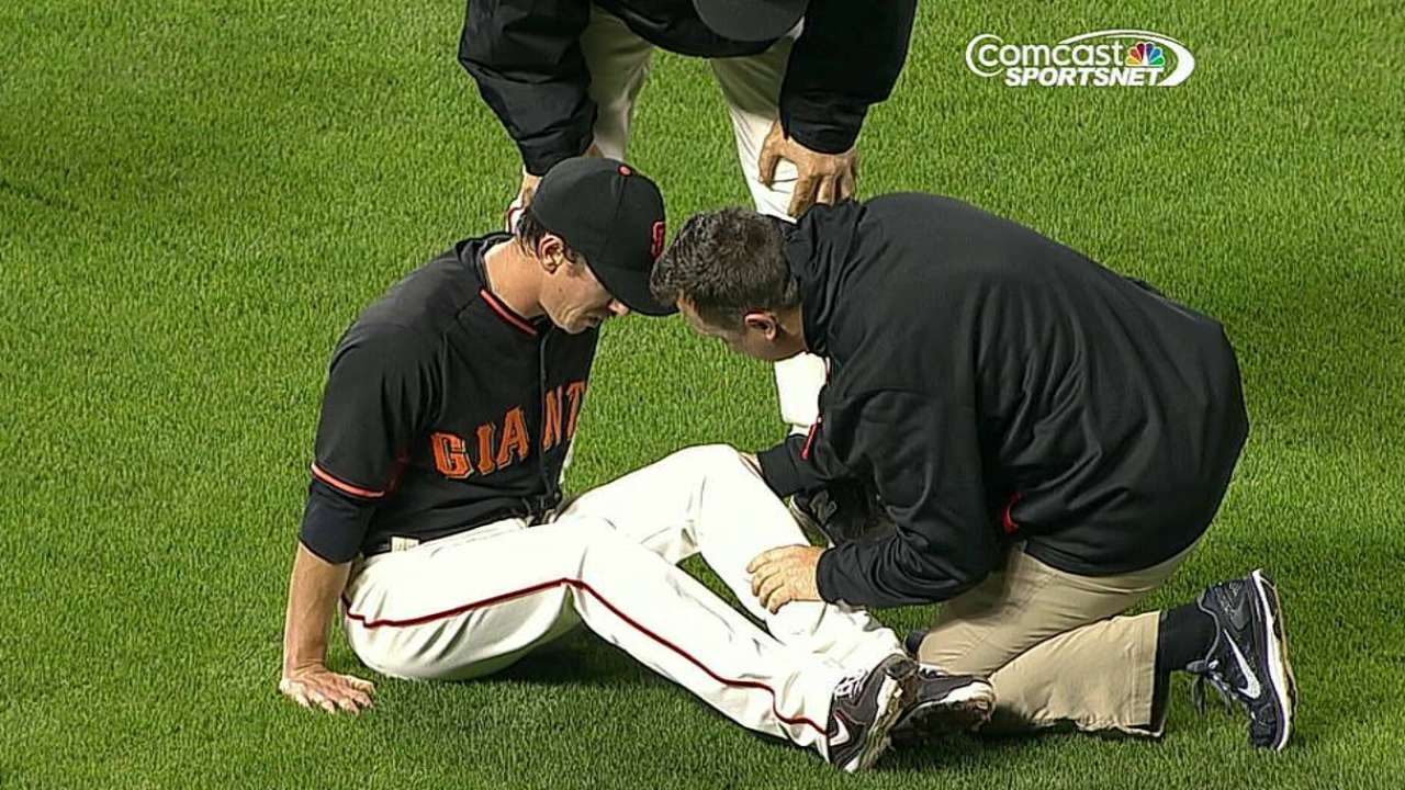 Lincecum avoids scare after liner drills knee