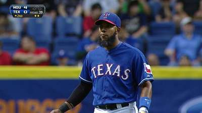 Andrus sets Rangers' Opening Day record