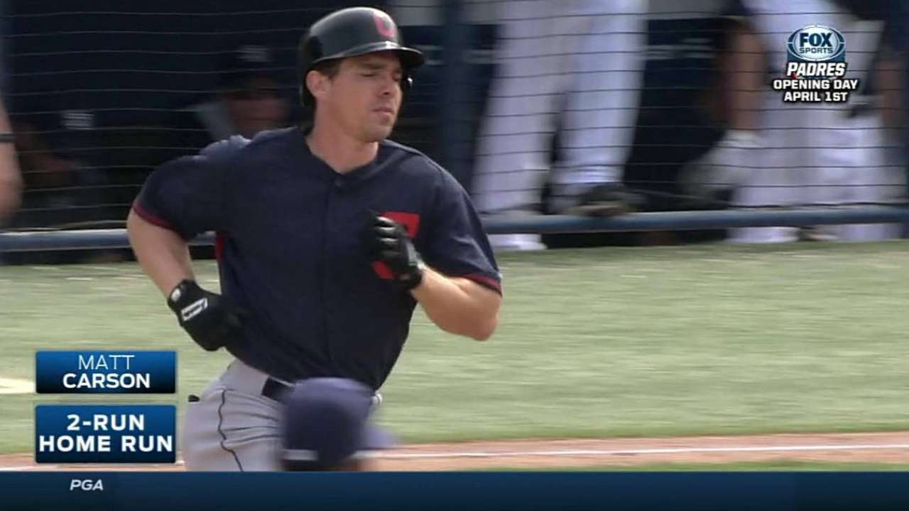 Carson homers twice in Indians' spring finale