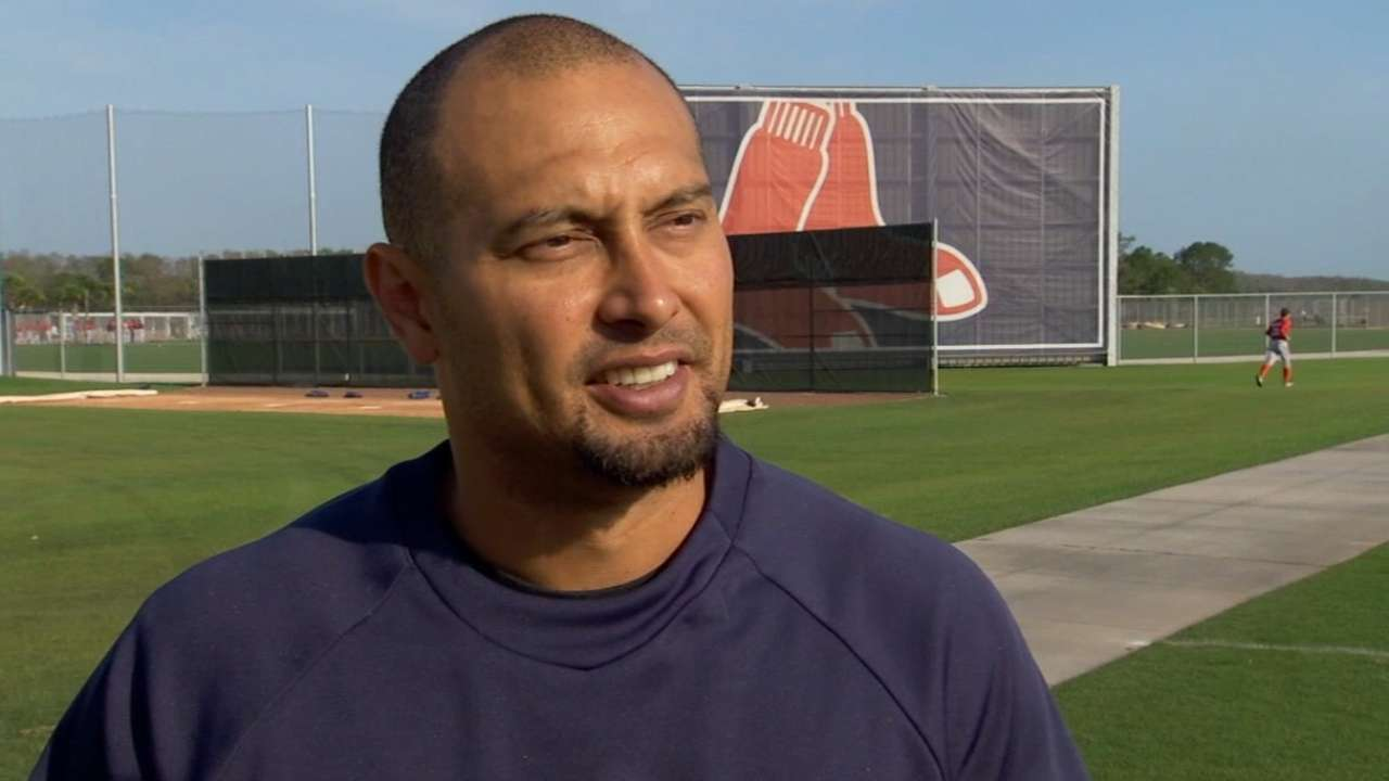 Victorino starts physical activity after bout with flu