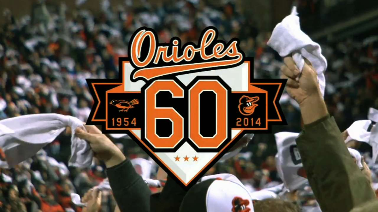 Orioles celebrate 60 years with eye on future