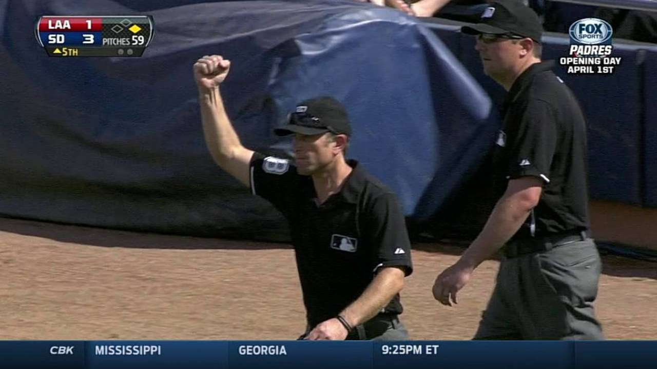 Black successfully challenges call vs. Angels