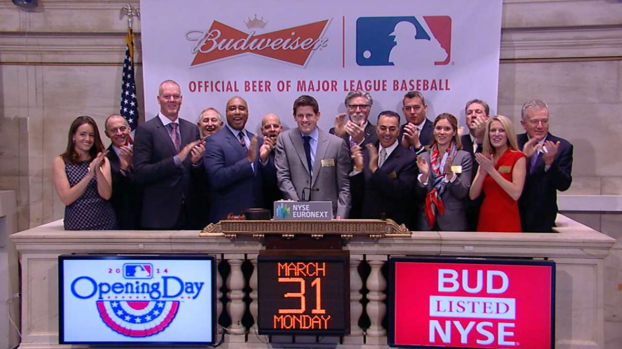 Former stars ring Opening Bell on Wall Street