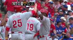 Rollins, Phils have Texas-sized start in opener