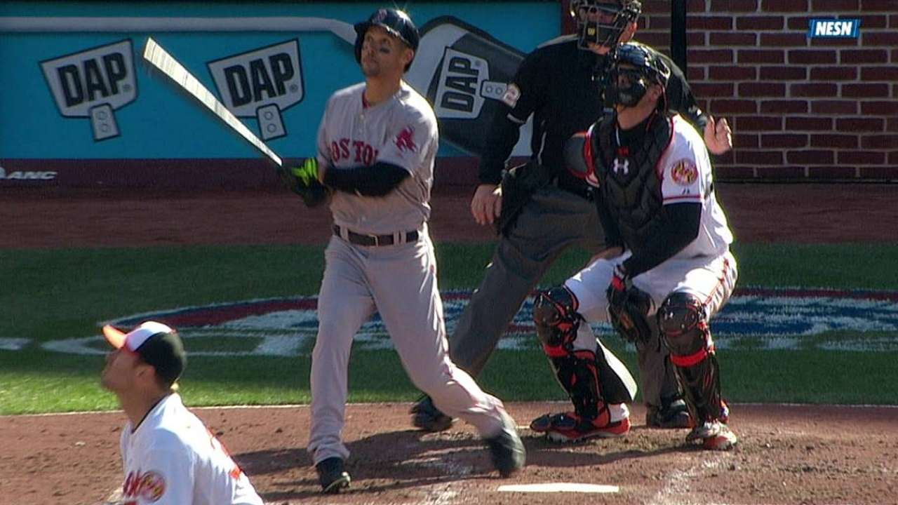 Despite breaking bat, Sizemore goes yard in debut