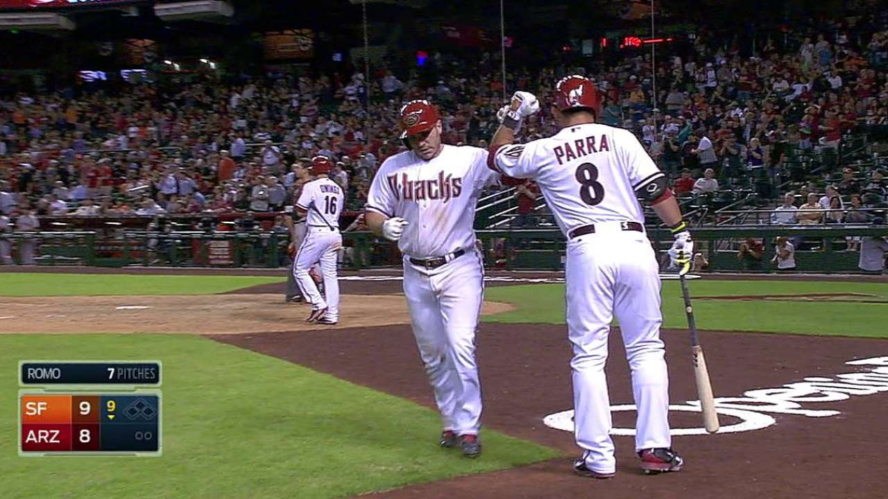 Positivity paying off for D-backs' Montero