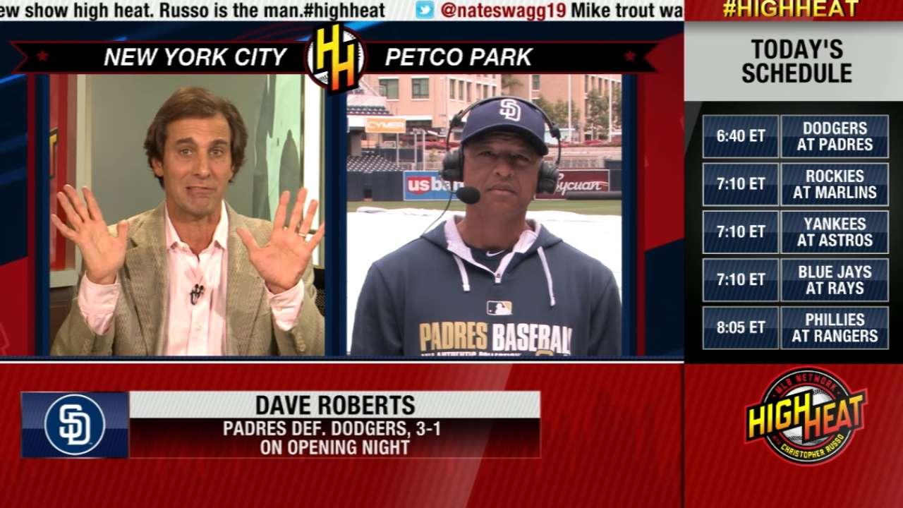 Roberts cherishes 'special day' as Padres manager