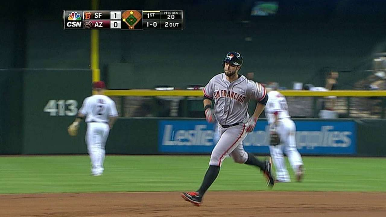 Belt hits second homer, but Giants can't hold lead