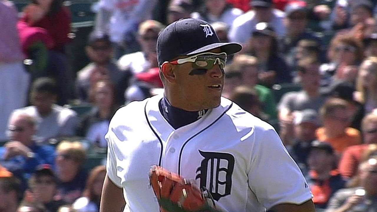 Miggy back at third base for opener in LA