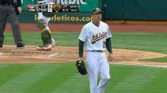 Kazmir dazzles in debut with A's, dominating Tribe