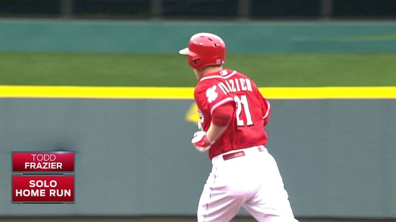 Frazier goes deep twice, but Reds edged by Cards