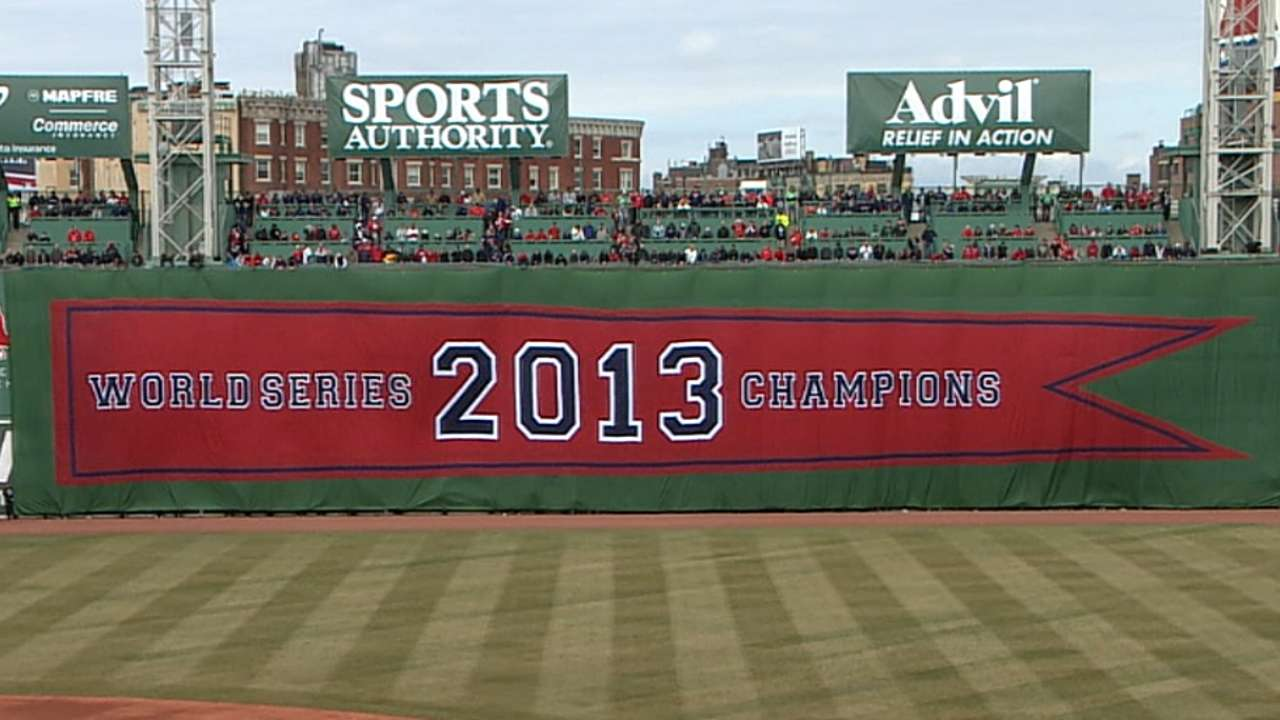 Ring it in: Sox celebrate title in elaborate ceremony