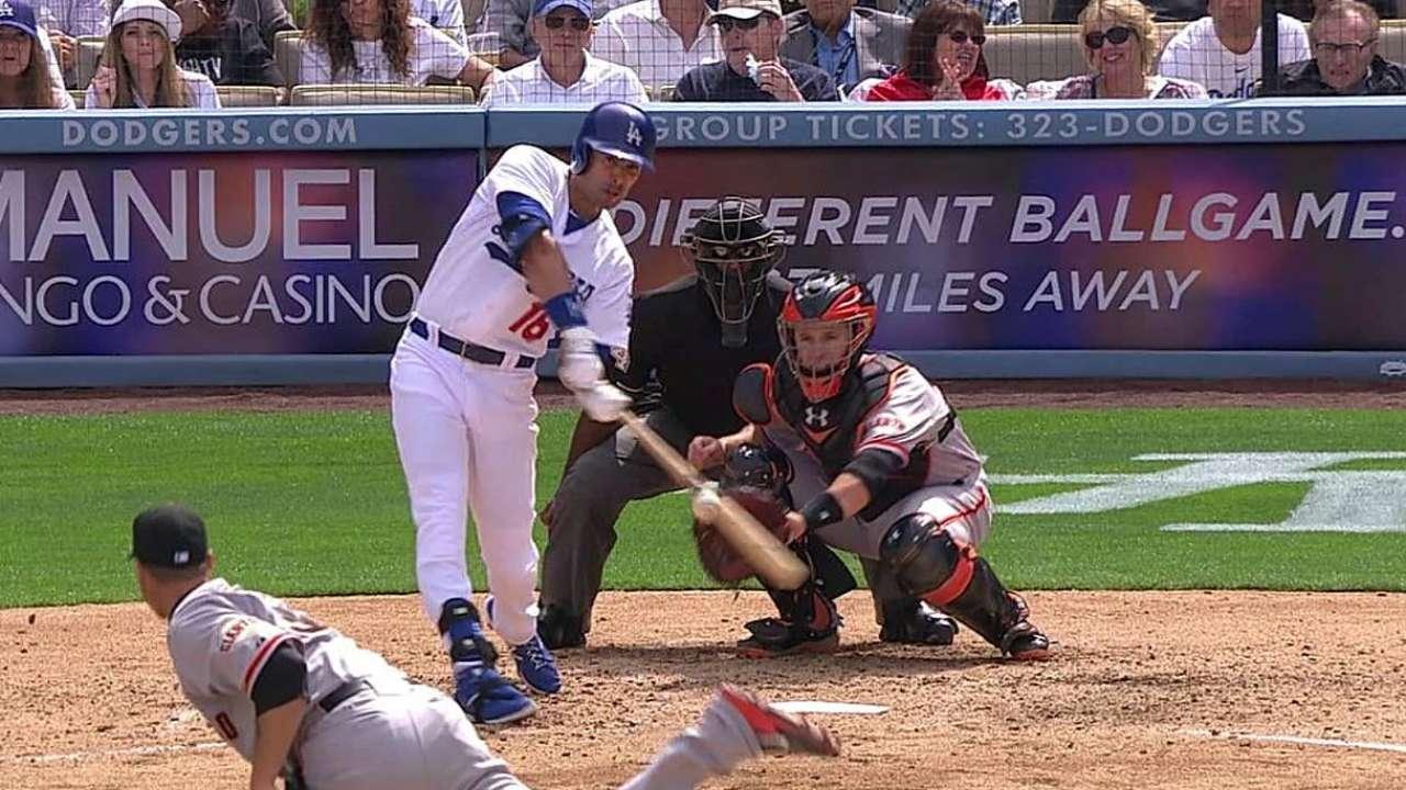 Gigantes atacan temprano y vencen a los Dodgers