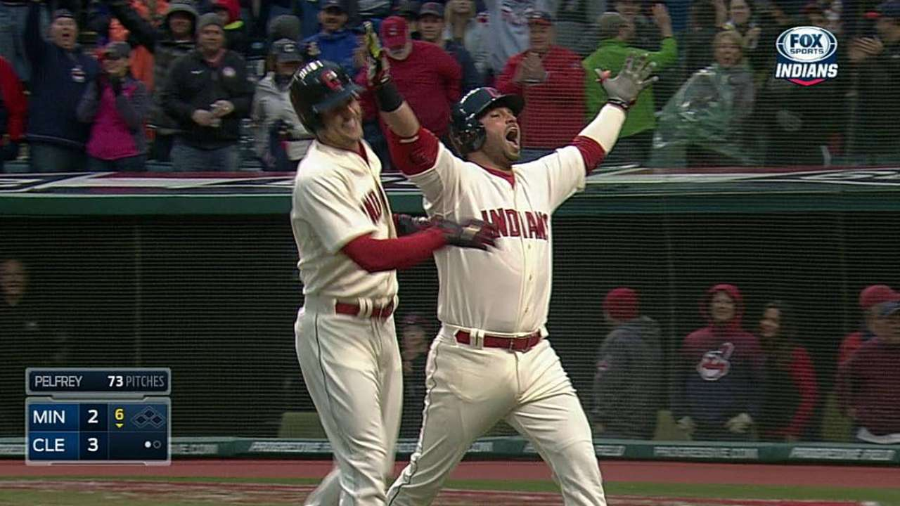 Swisher ignites Tribe's home-opening victory party