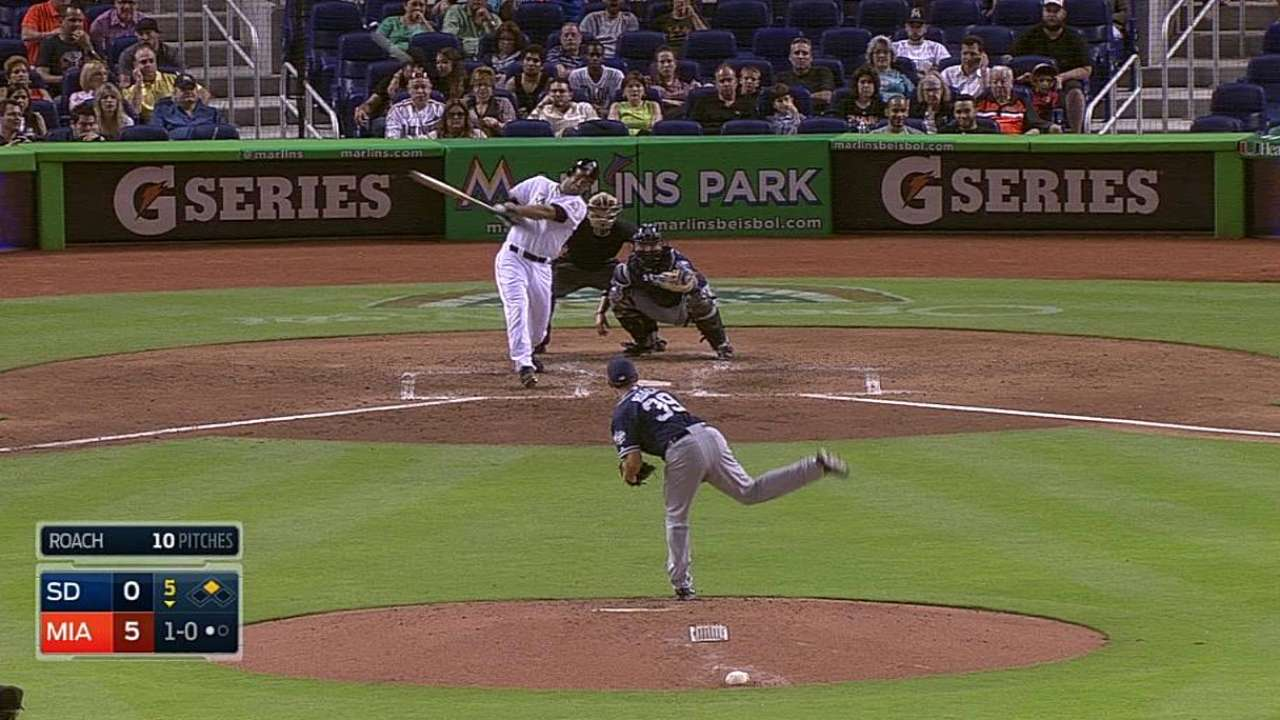 Marlins' gap hitters delivering at spacious park