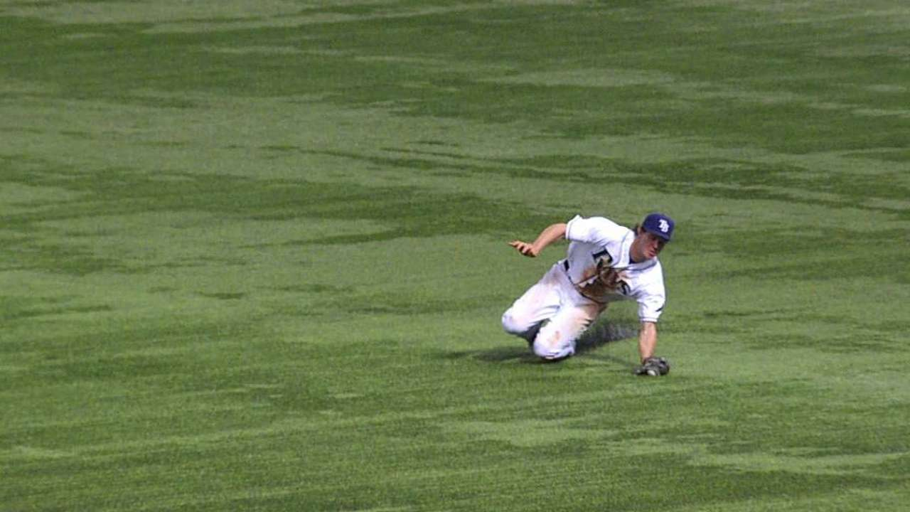 Myers credited with catch as call is overturned