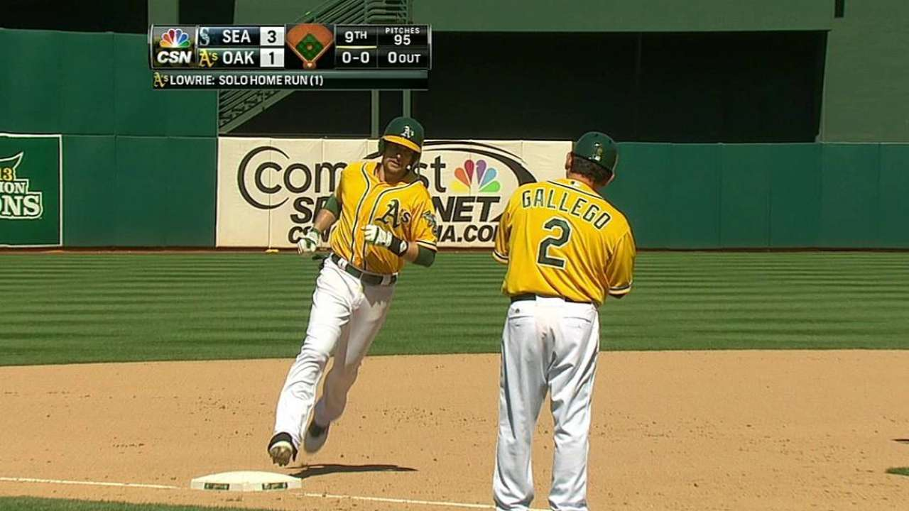 A's struggle to support Straily vs. Felix, Mariners