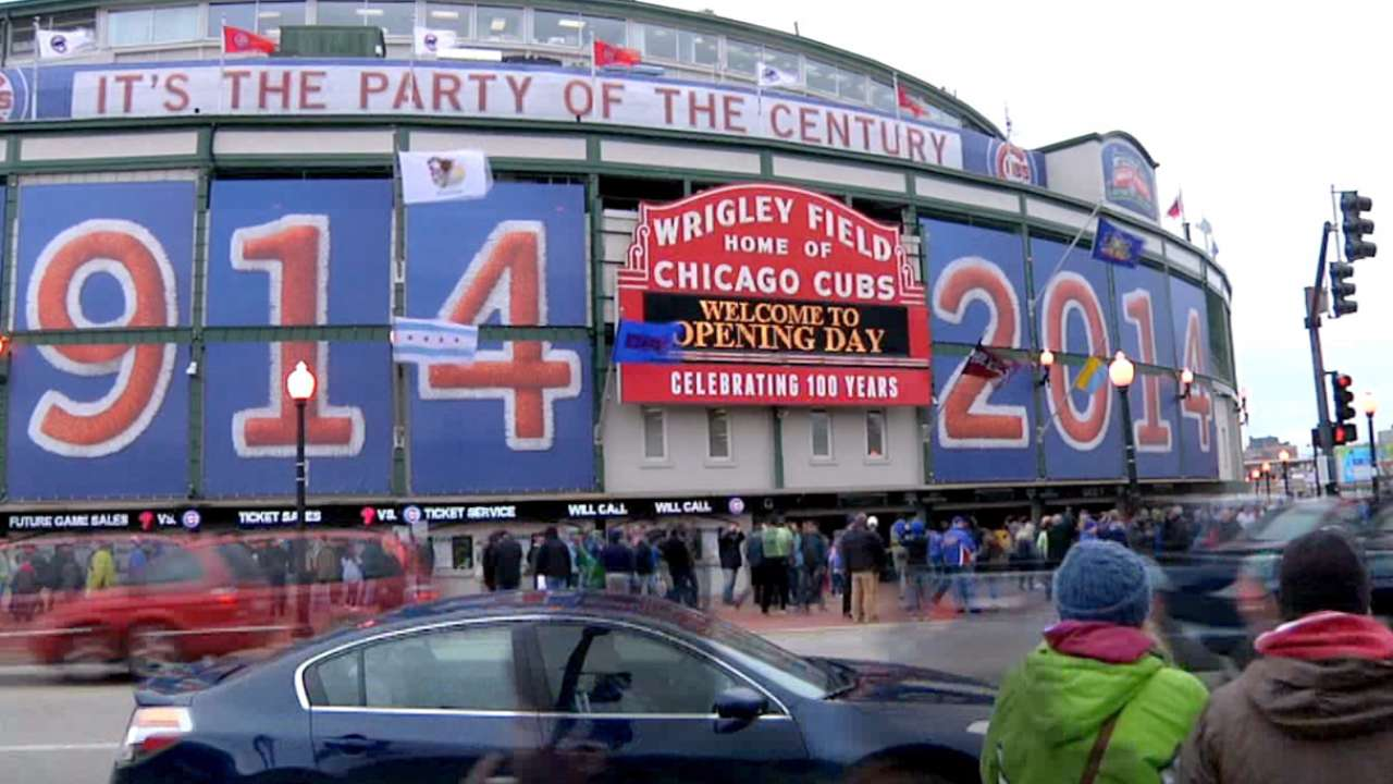 Marquee at Wrigley Field a beloved relic