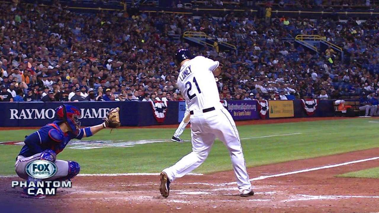Doble de Loney definió victoria de Rays sobre Texas