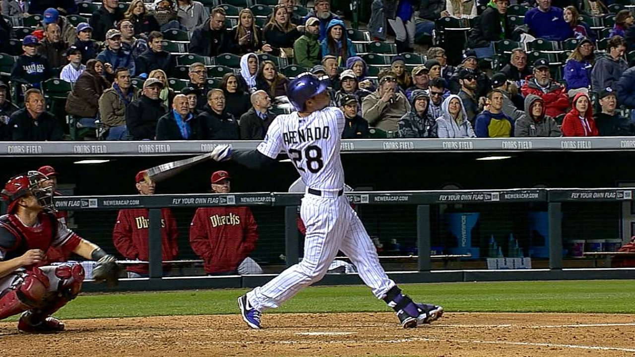 Rox ride three homers to first series win