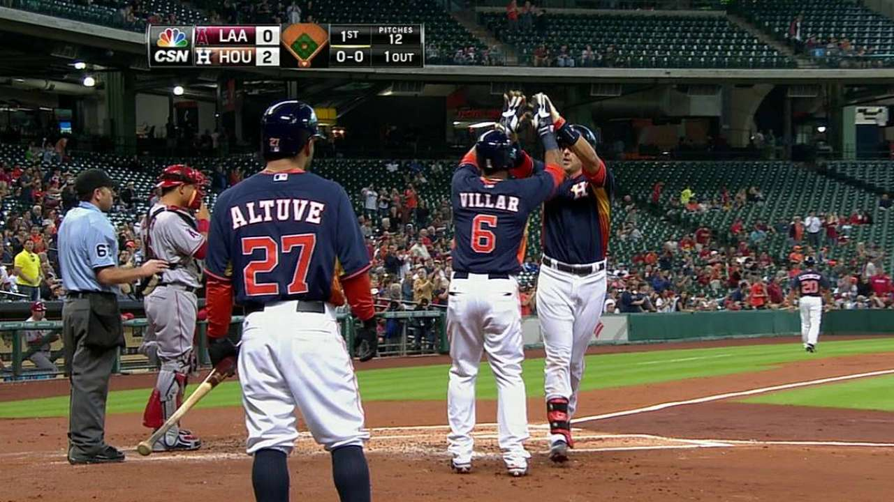 Astros crush five homers to topple Angels
