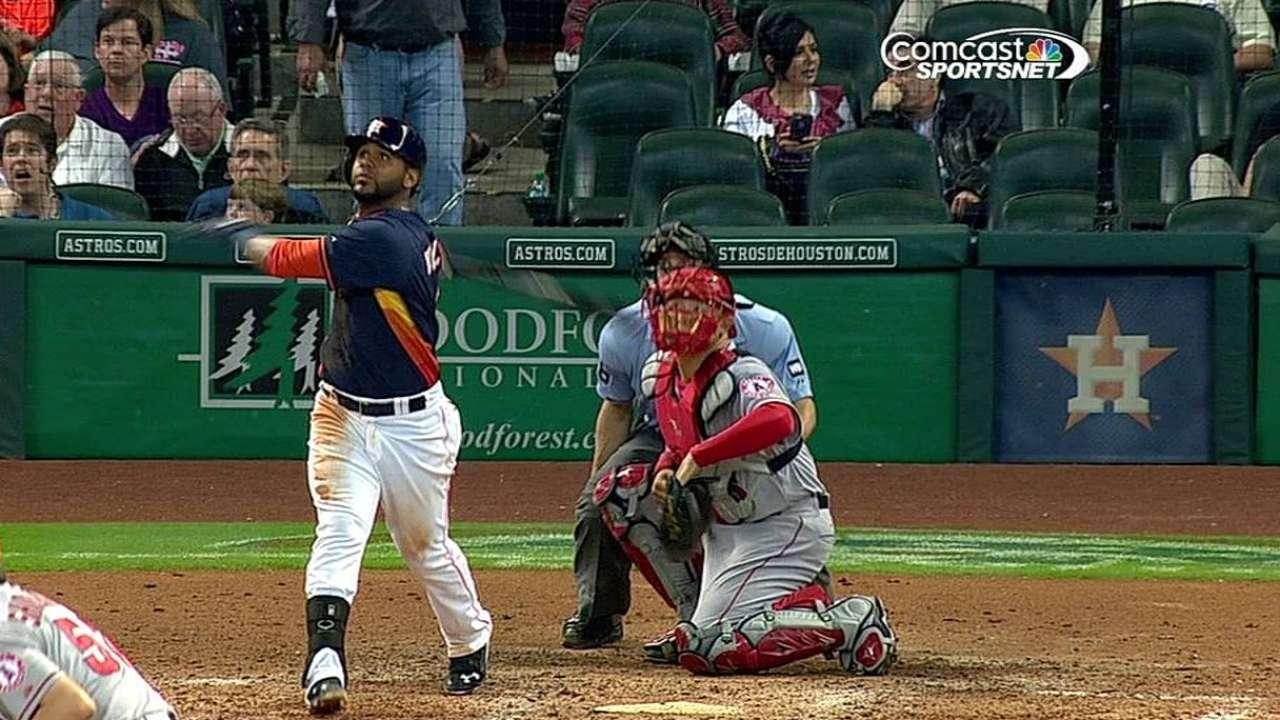 Astros hundieron a Angelinos con 5 cuadrangulares