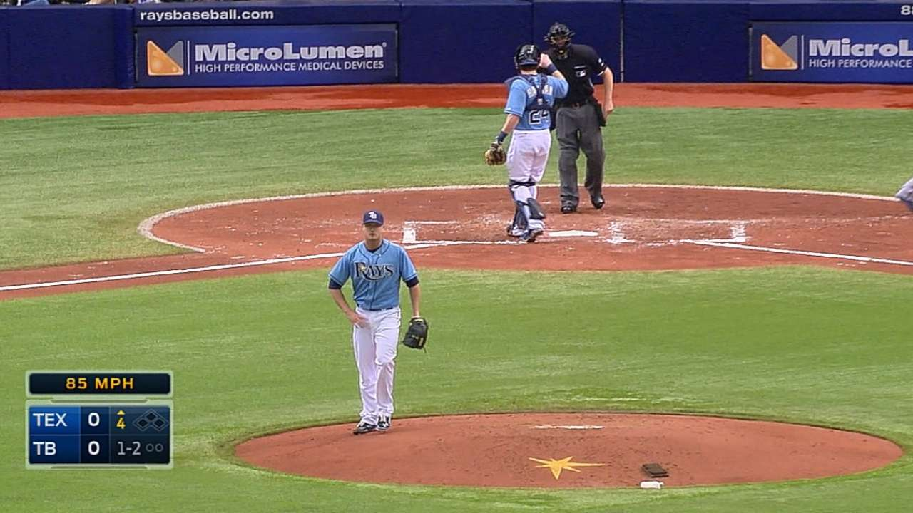 Cobb outdueled by Yu as Rays' winning streak ends