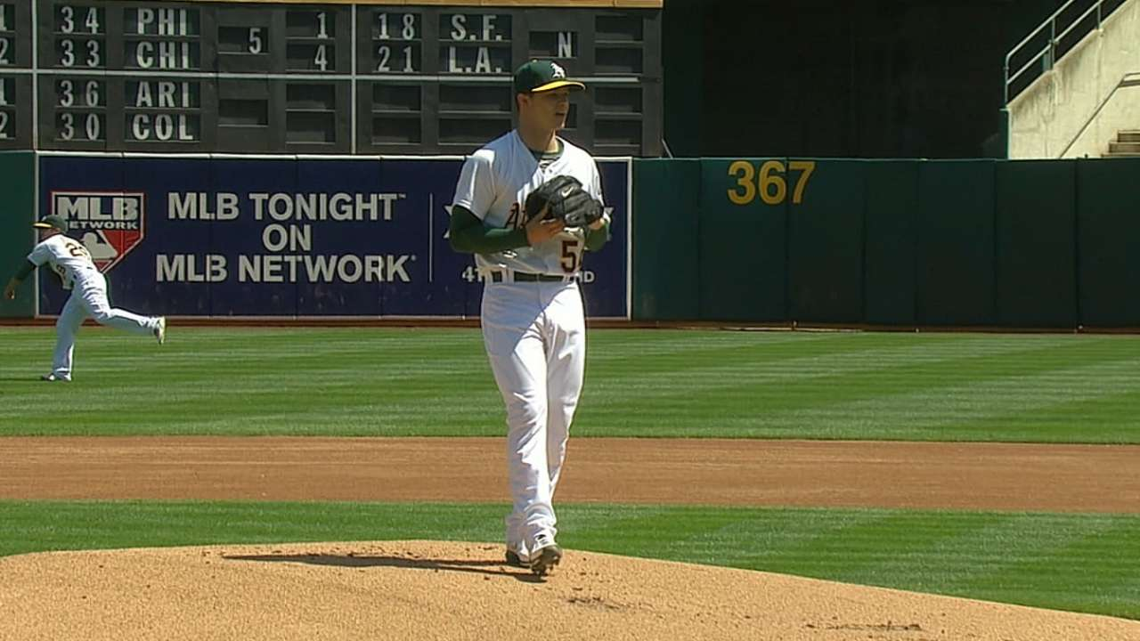 Young perfect in two innings in bullpen debut