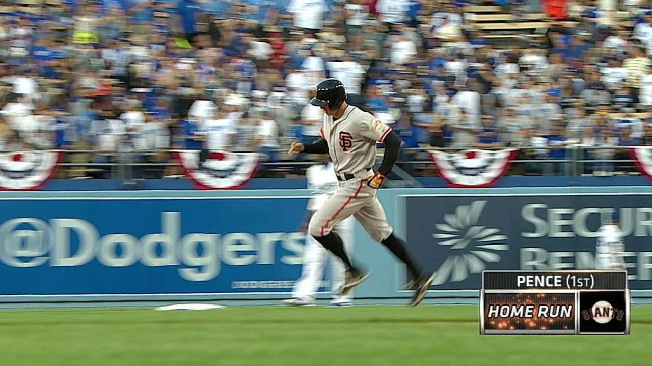 Homers trouble Cain as Giants drop finale to Dodgers