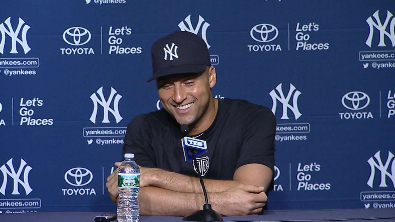 Jeter: 'Butterflies' at final home opener