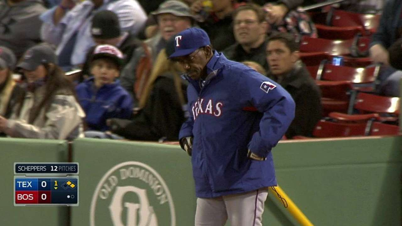 Wash, Rangers lose first replay challenge vs. Sox