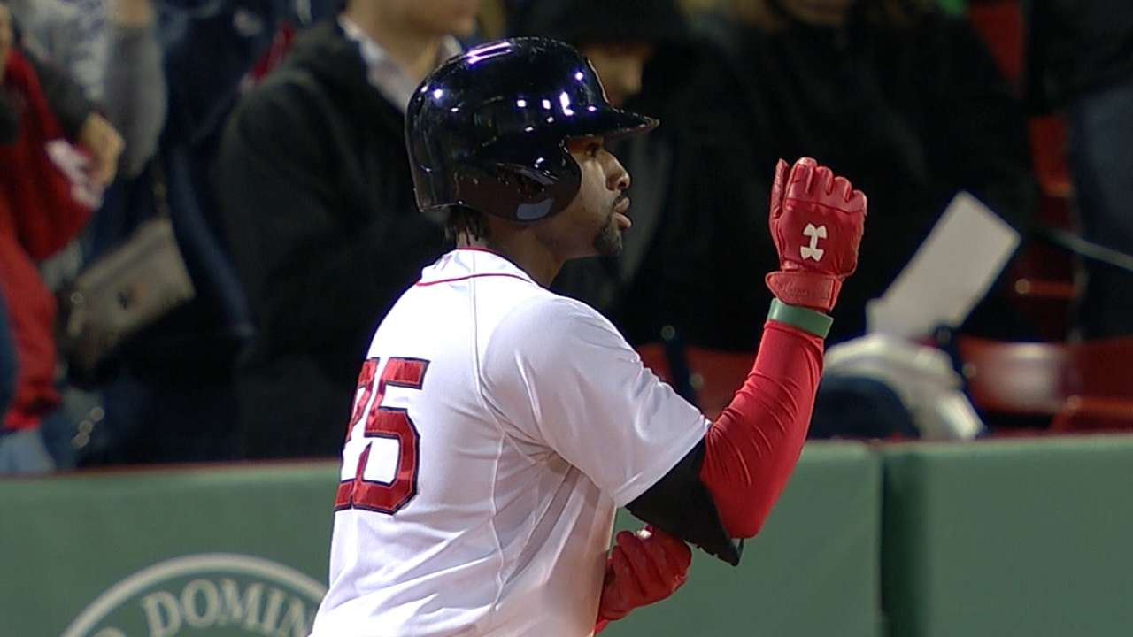 Bradley Jr. mints Red Sox first home win