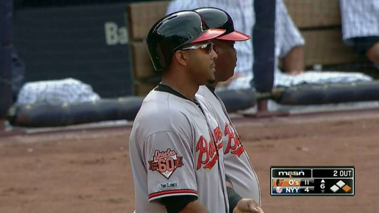 Los Orioles aplastaron a los Yankees en el Bronx
