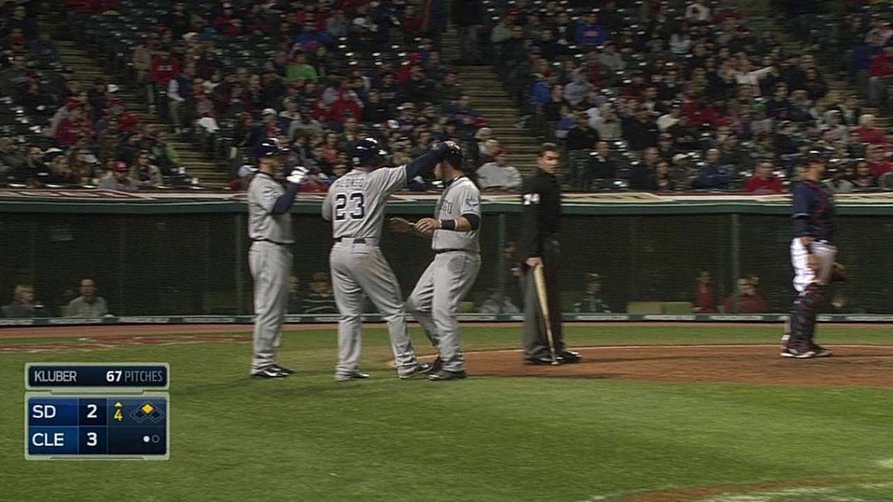Early miscues costly as Padres fall to Indians