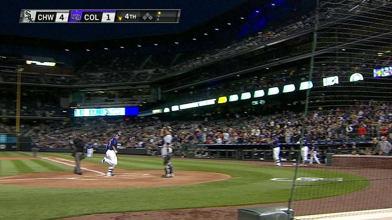 Rockies unable to match White Sox power