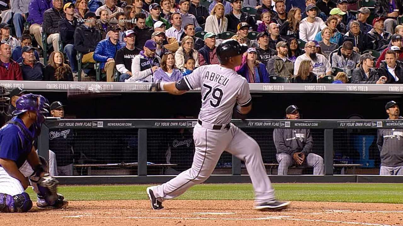 Mom's words, first home runs help Abreu relax