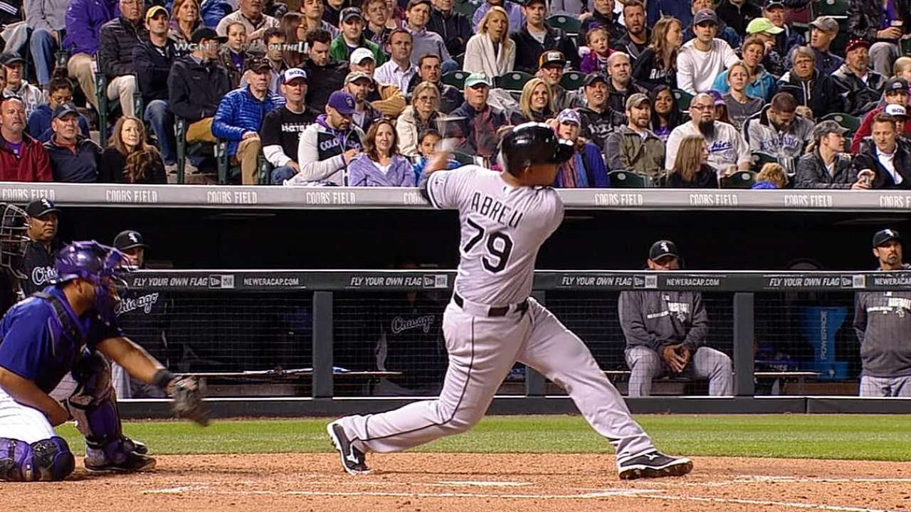 Abreu's first two HRs among six for White Sox in rout