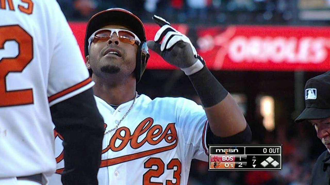 Charming debut: Cruz's clutch homer lifts O's