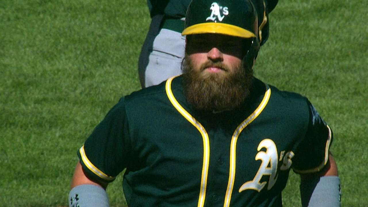 Norris rescues A's in 11th with clutch three-run blast