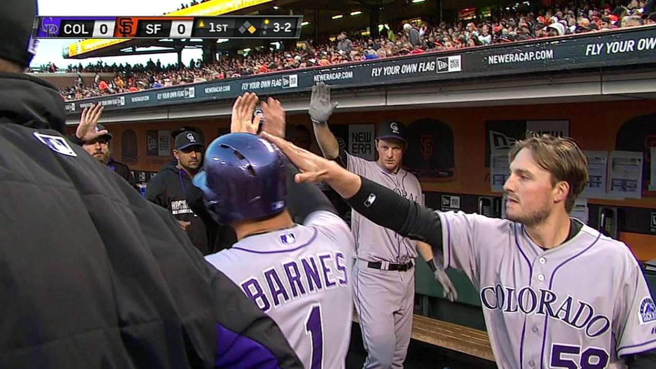 Barnes making most of opportunities with Rockies