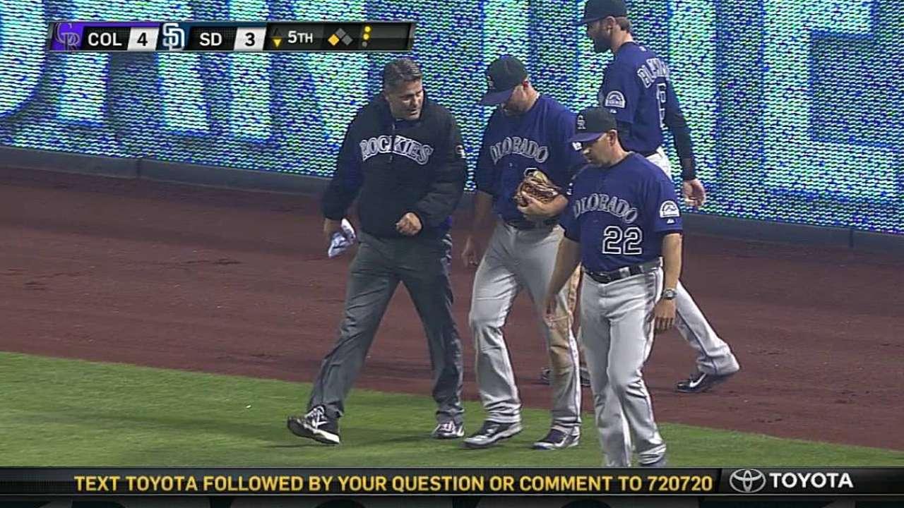 Cuddyer starts at first base night after injury