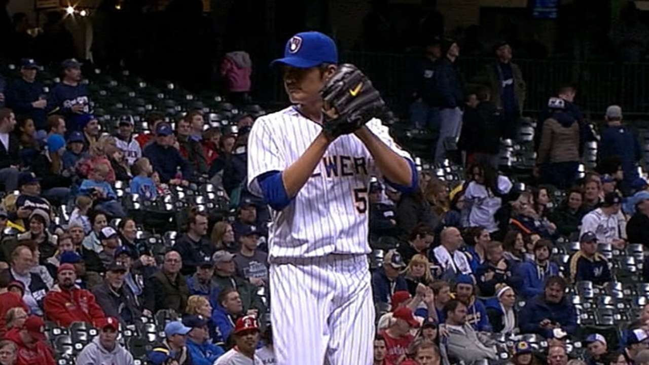 Feeling more relaxed, Wang lights up radar gun