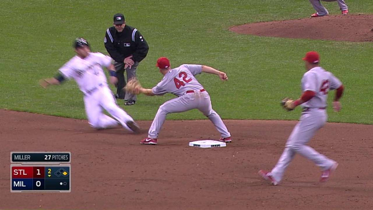 Cards want Miller to improve in preventing steals